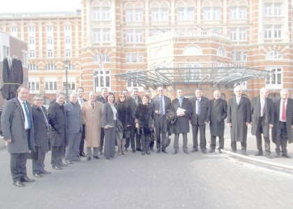 Group photo in front of the Kurhaus in Scheveningen, the Netherlands